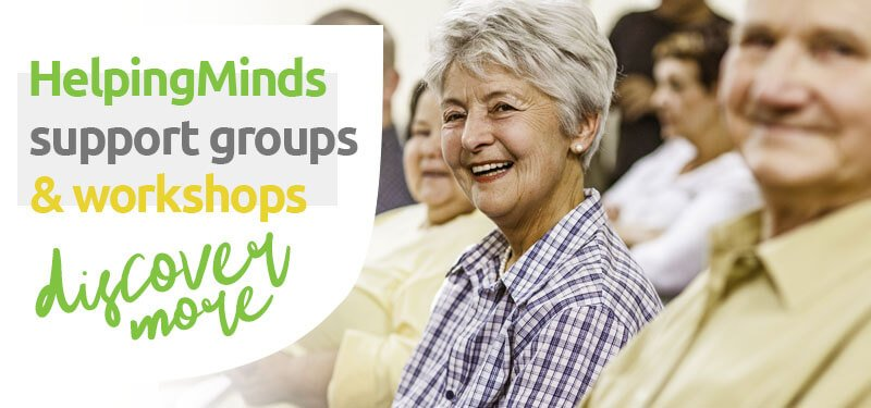 HelpingMinds<sup>®</sup> Mental Health Group Support banner