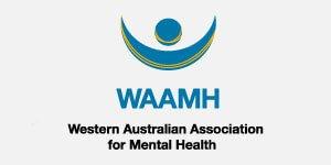 Logo for Western Australian Association for Mental Health, a organisational partner of HelpingMinds<sup>®</sup> WA